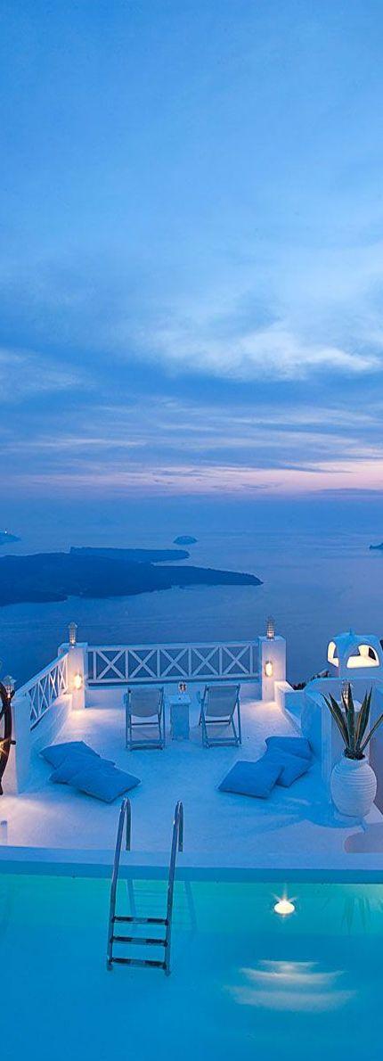 Hotel on the Rocks….Santorini, Greece .**