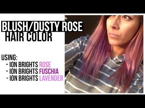 Smokey Pastel Blush Dusty Rose Pink Hair Color Tutorial
