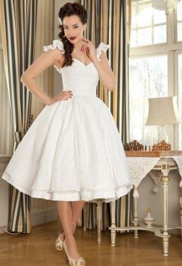 50s Pin Up Style Wedding Dress Leggi Larticolo Abiti