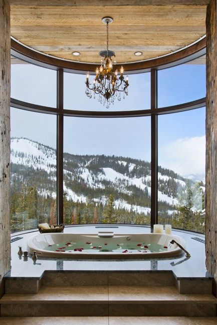 Perfect view to take my mind off of my jiggly booty while I'm in the tub, will find a house with a view like this or at least a