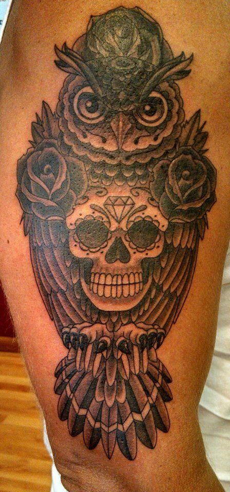 Owl Sugar Skull (By Chris Phelps) Día de los Muertos