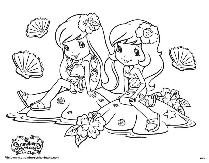strawberry shortcake strawberries and coloring on pinterest