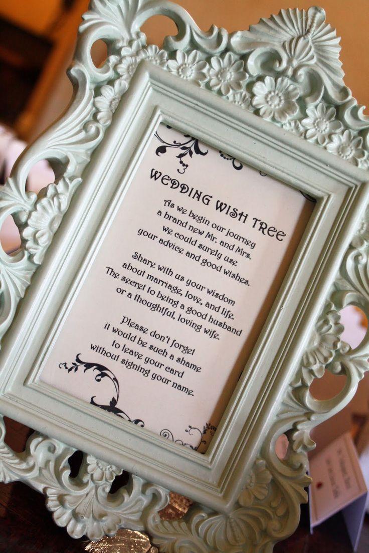 Wedding Wishing Tree Poem WeddingBridal Shower Ideas Pinterest Pastries Wedding Wishing