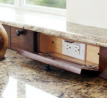 29 Best Images About Hiding Electric Outlet Kitchen Counter On Pinterest Kashmir White