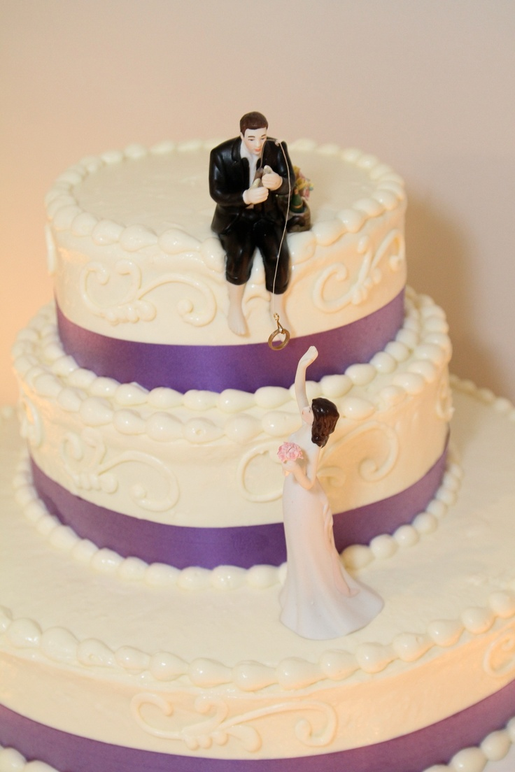 Fishing Cake Topper Wedding Pinterest Fishing Cakes