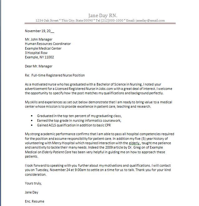 about cover nursing pinterest cover letter example new