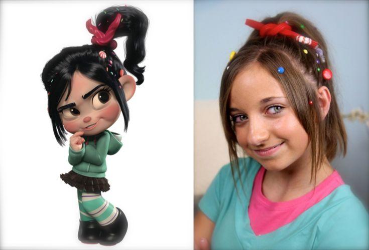 Vanellope Von Schweetz Hairstyle Tutorial From Disneys