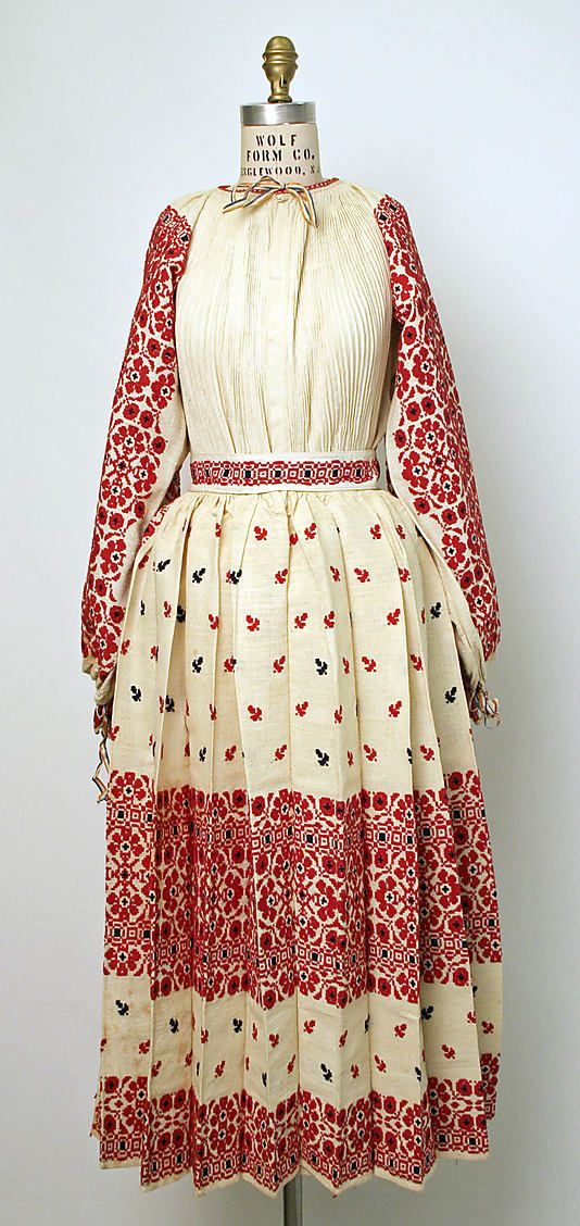 Traditional Croatian cotton dress circa early 1900s I