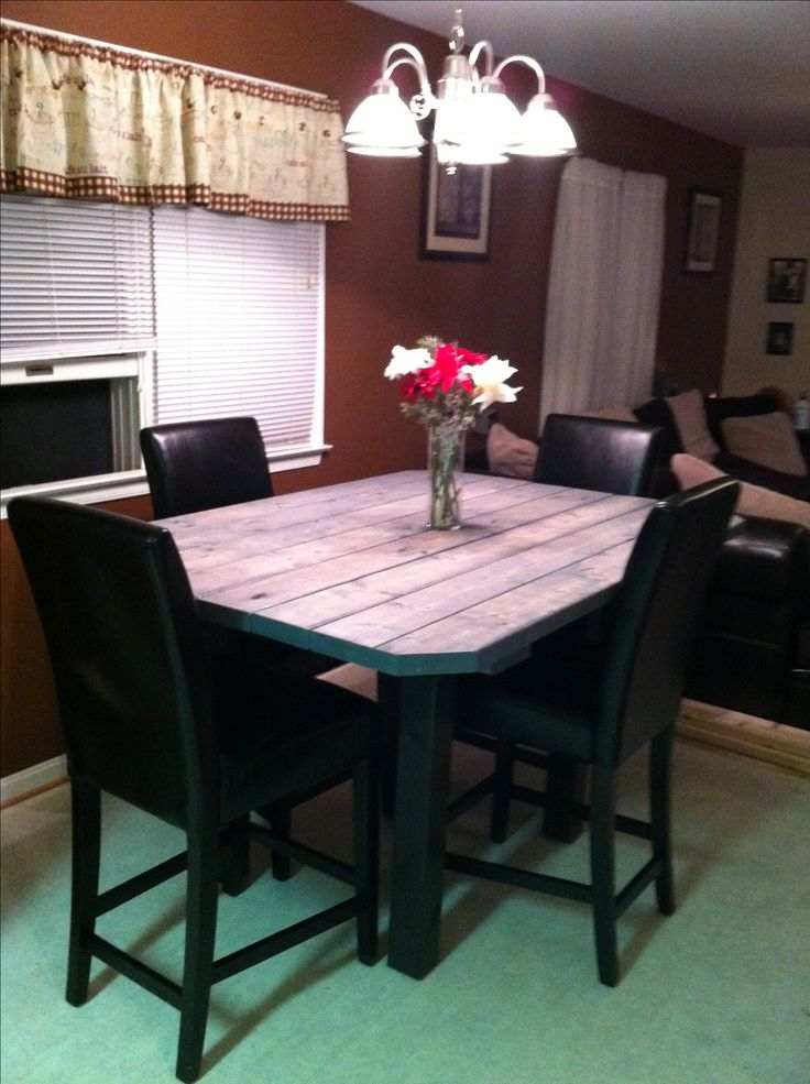 Homemade High Top Table Using 2x4s For The Home