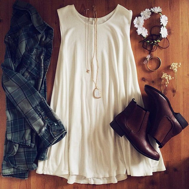 Boho Plaid Chic Outfits, bu