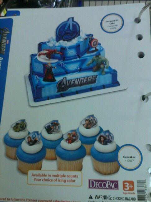 Walmart Avengers Multilevel Cake And Cupcakes Rayden S