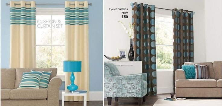 Teal Accented Rooms Cream Teal And Brown Curtains Stuff To Buy Pinterest Teal Curtains
