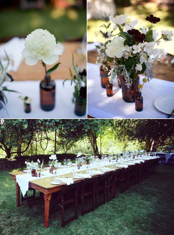 Classic Outdoor Wedding Fruitwood Garden Chairs Amp Farm Tables Autumn Wedding Inspiration