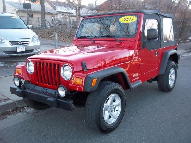 2004 Jeep WranglerTj Sport SPORT SUV 2 Doors Red for sale