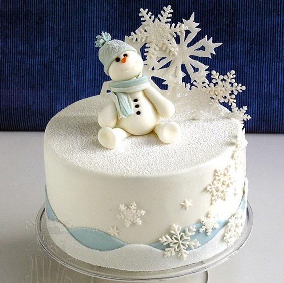 Christmas snow man and snow flake cake. Wedding Planning