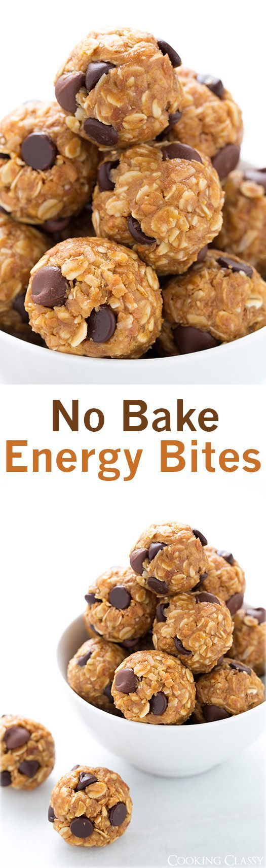 No Bake Energy Bites – these are the best snack EVER, and theyre healthy! I make them all the tim