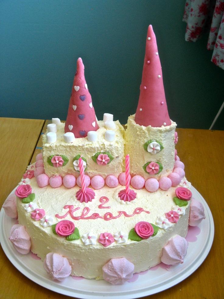 Princess castle cake. My little girl's 2nd birthday cake