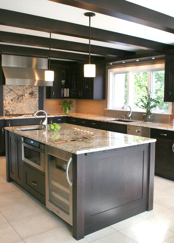 The Working Island Appliances in the Kitchen Island