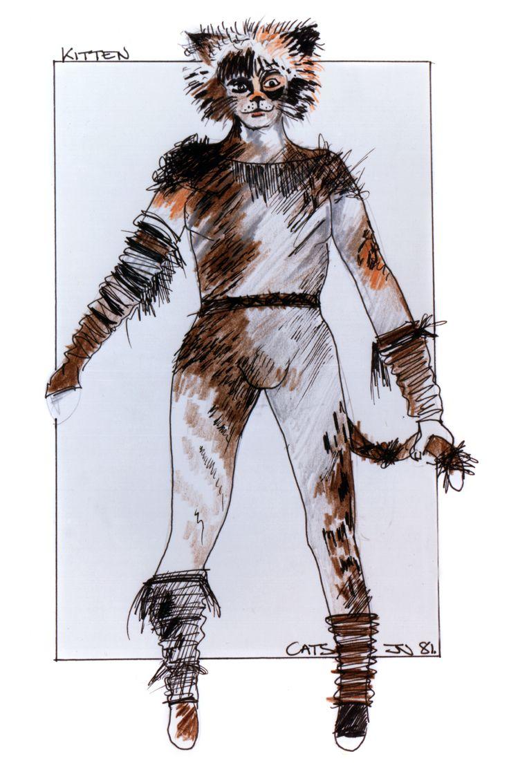 Original John Napier design Kitten ensemble costume