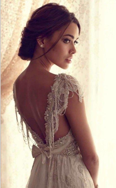boho wedding dress with rom