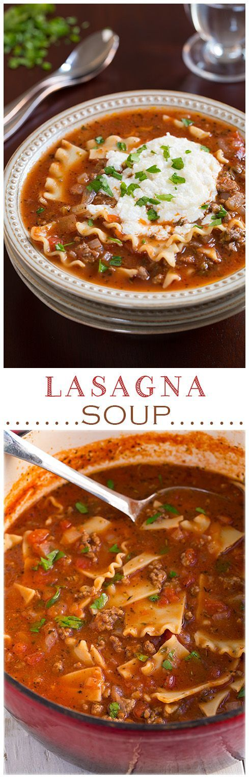 Lasagna Soup - It's AMAZING to say the least! I like it even more than lasagna because it's not so heavy. A must try recipe!: Lasagna Soup - It's AMAZING to say the least! I like it even more than lasagna because it's not so heavy. A must try recipe!
