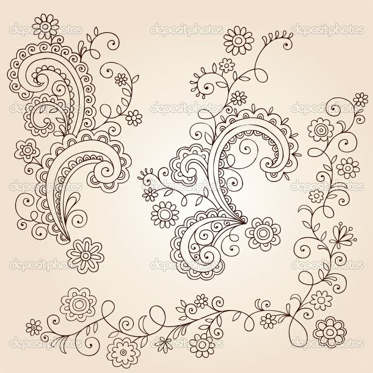 Small Flower Tattoo Ideas Henna Mehndi Paisley Flowers