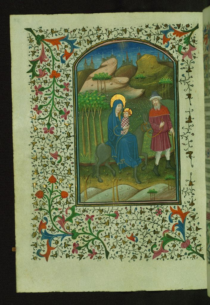 Book of Hours Flight into Egypt Walters Manuscript W.246