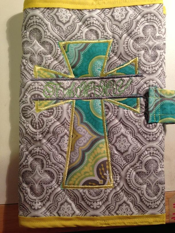 Quilted Bible Cover. 20.00, via Etsy. Projects