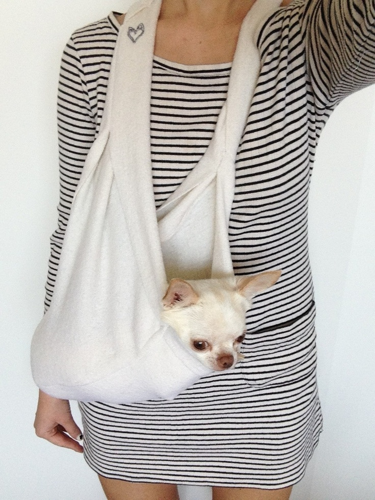 Pocket Scarf Sling White Pet carriers