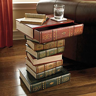 Stacked Books End Table Could Try A DIY For The Home