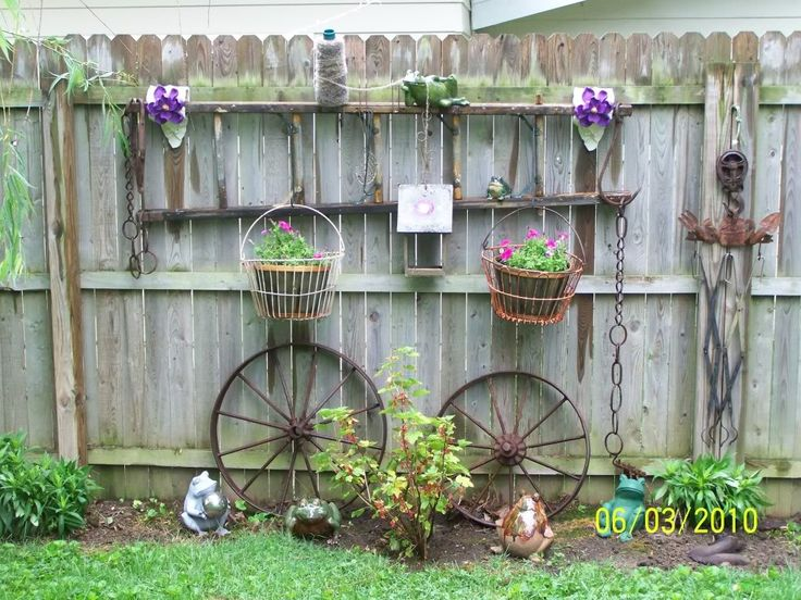 Old Ladder And Egg Baskets Gardening And Backyard Pinterest Gardens Buckets And A House