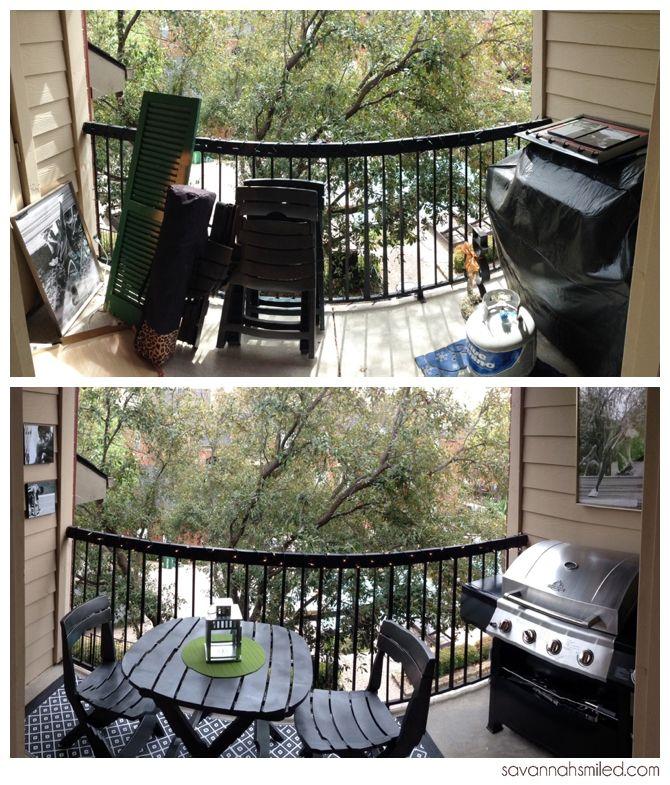 Narrow balcony makeover. #apartment #living #outdoor #space