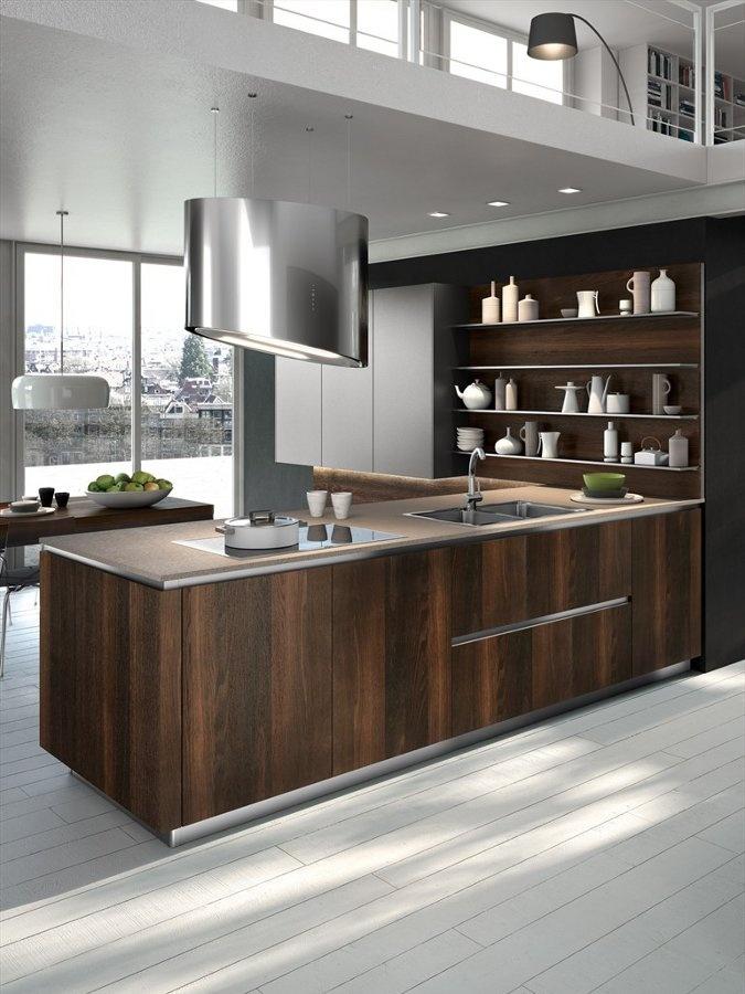 Wooden fitted kitchen WAY by Snaidero Cucine wood