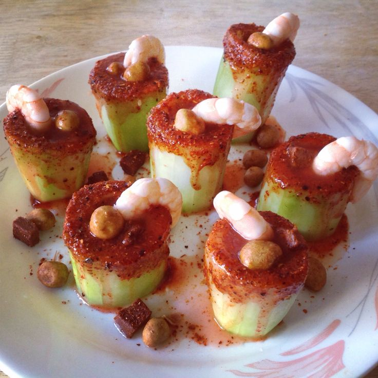 Cucumber chamoy shots clean out the seeds i used the