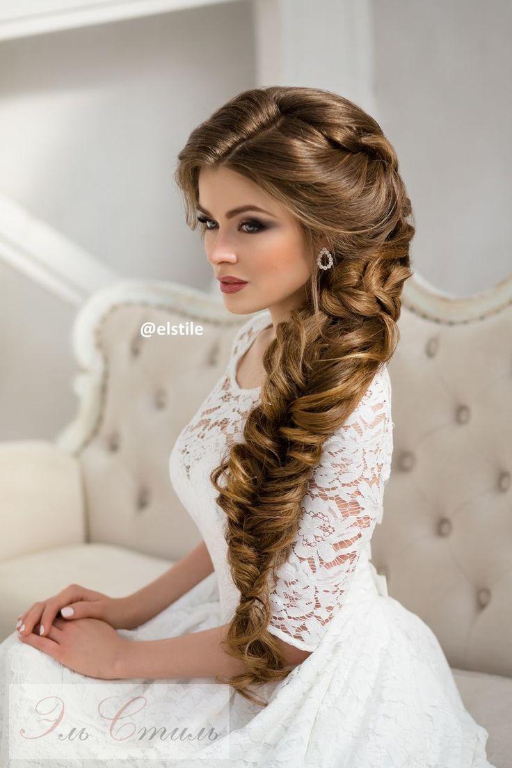 Long Braided Wedding Hairstyle Via Elstile Wedding Deer