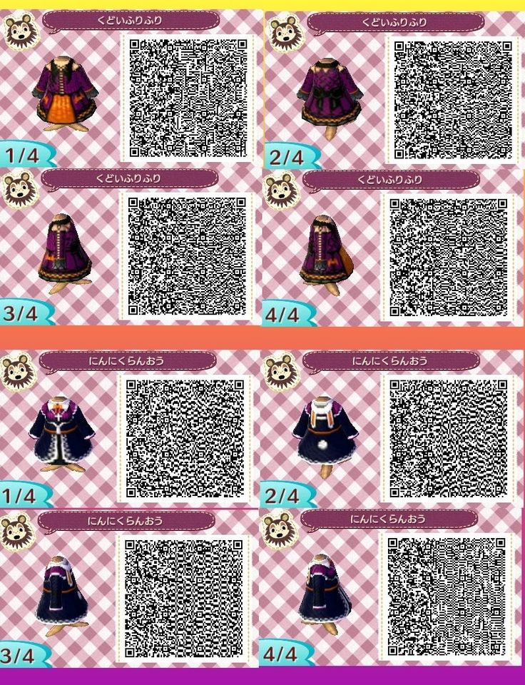 Halloween Dresses Animal Crossing New Leaf Qr Code ACNL