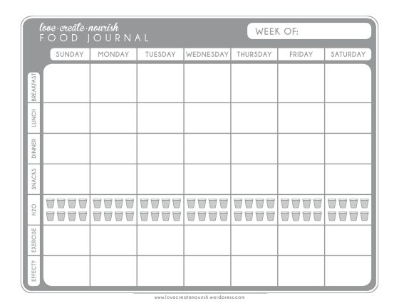 journal templates excel pdf formats. printable weight loss journal ...