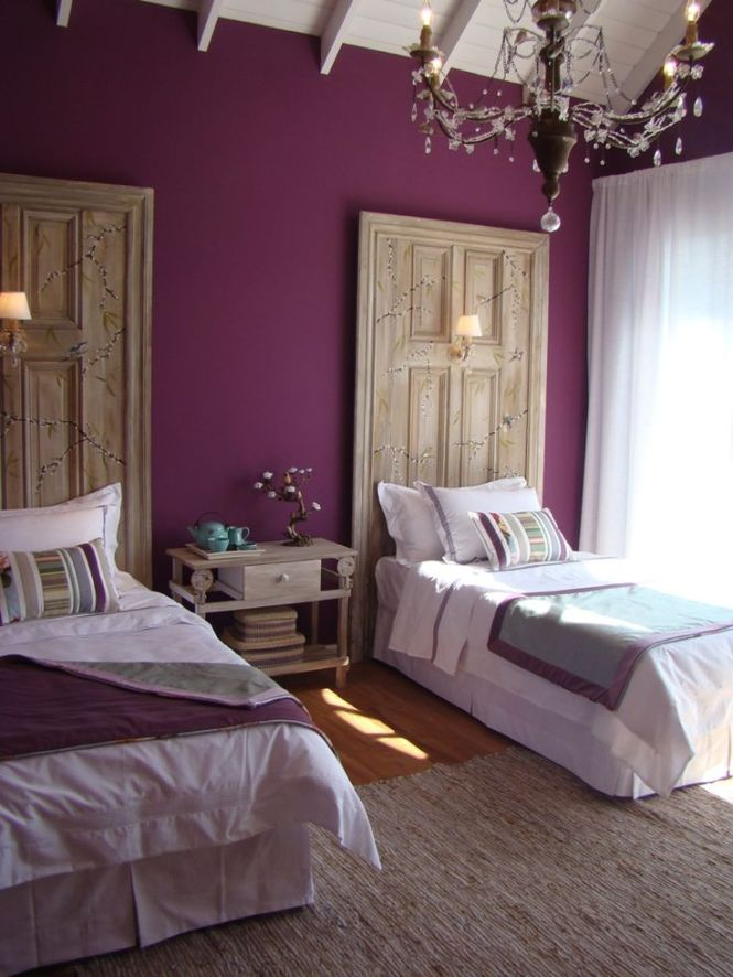 Bedroom Headboards A Bohemian With Purple Accents And 23 Inspirations