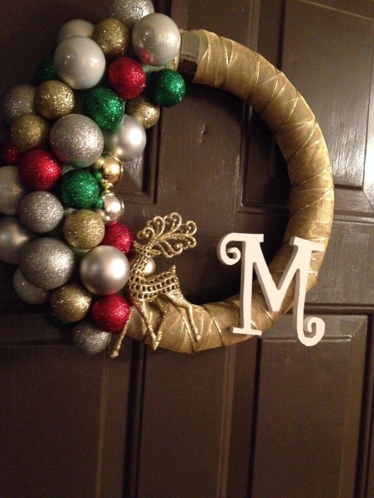 The Morey Family Christmas wreath! Made with ribbon and