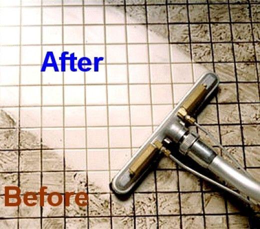 Tile Floor Cleaner – Sprinkle baking soda on tile then spray mixture of 1/2c hydrogen peroxide & 1c warm water. Soak for 10 mins.