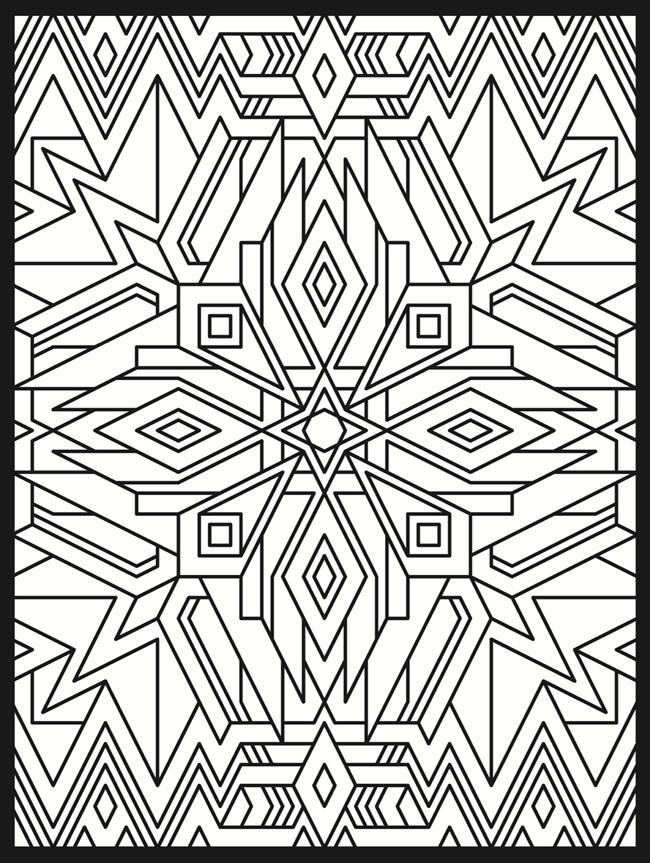 dover design deco colors pages coloringstampin gen1 stained glasses