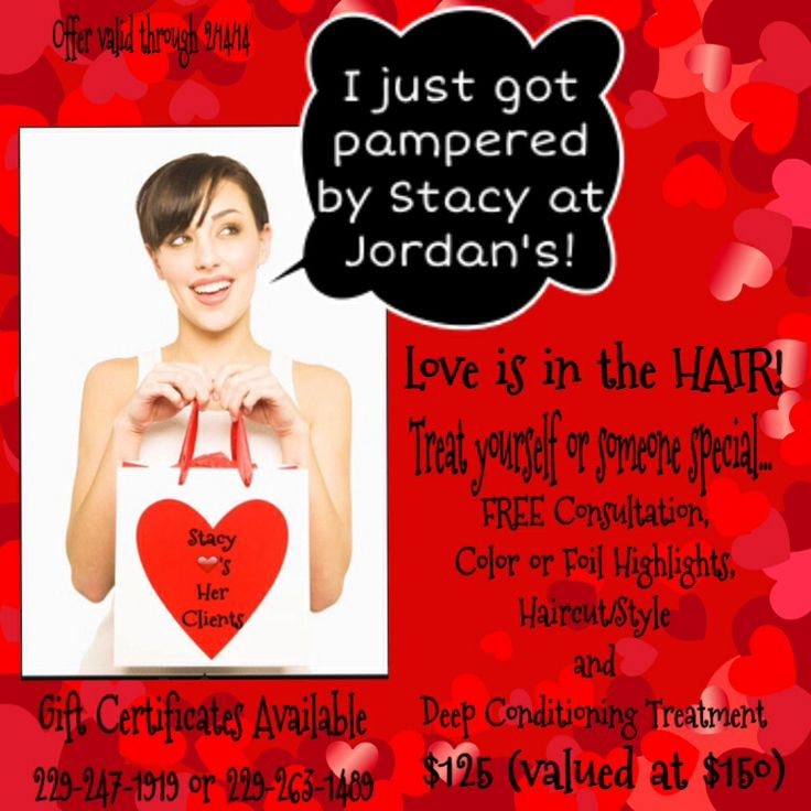 Valentine PackageStylist Stacy MarshallJordans Salon