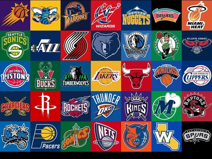Logos equipos de la NBA NBA Pinterest NBA