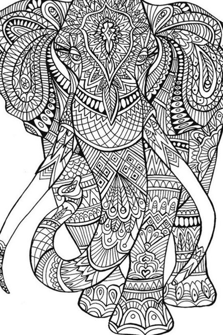 50 Printable Adult Coloring Pages That Will Make You Feel ... | free online coloring pages for adults animals