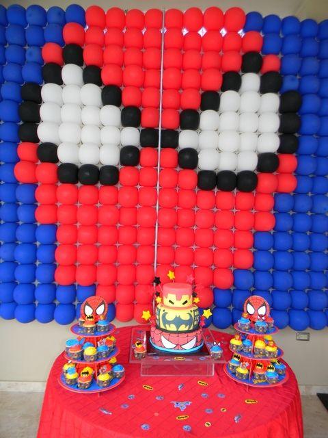 "Photo 1 of 26: Batman, Spiderman and Ironman Birthday (Superheroes Party) / Birthday ""Super Randy Super Heroes 5th Birthday"" |"