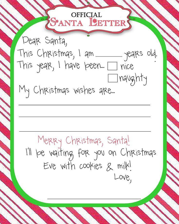 Wishlist Template Letter Secret Santa Secret Santa Free