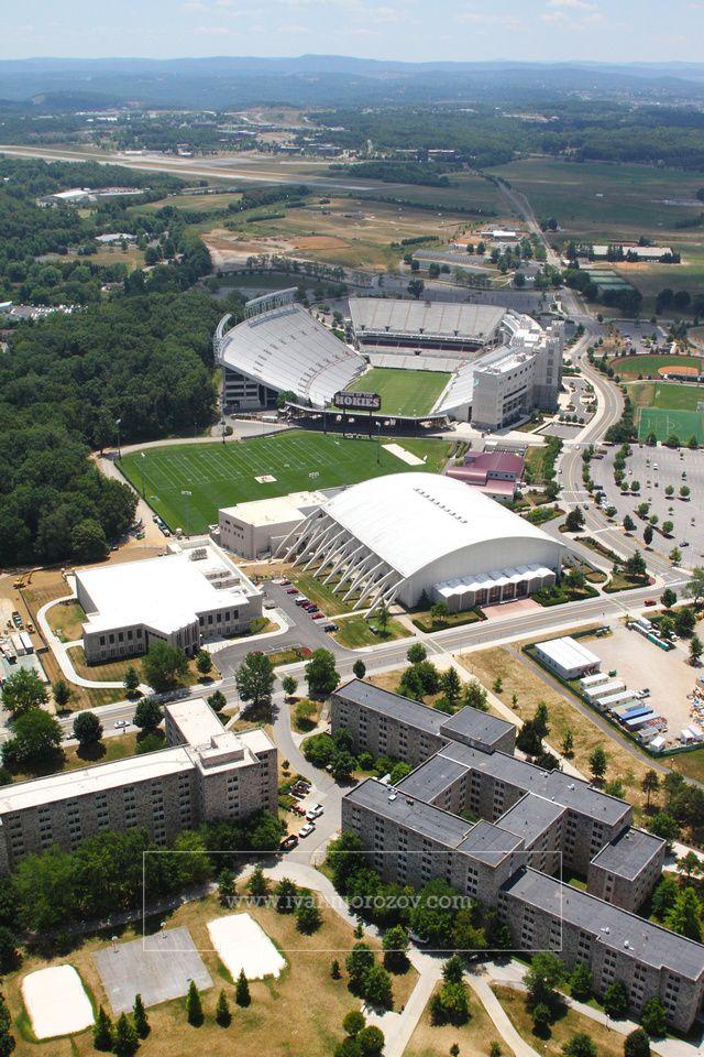 Aerial photography of Virginia Tech campus. Virginia Tech
