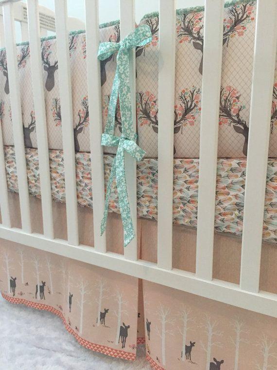 Little Oasis Custom Woodland Deer Crib by LittleOasisNurseries