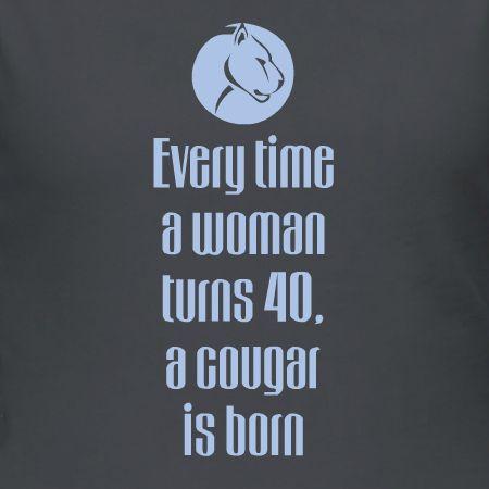40th Birthday Cougar Customizable T Shirt Template