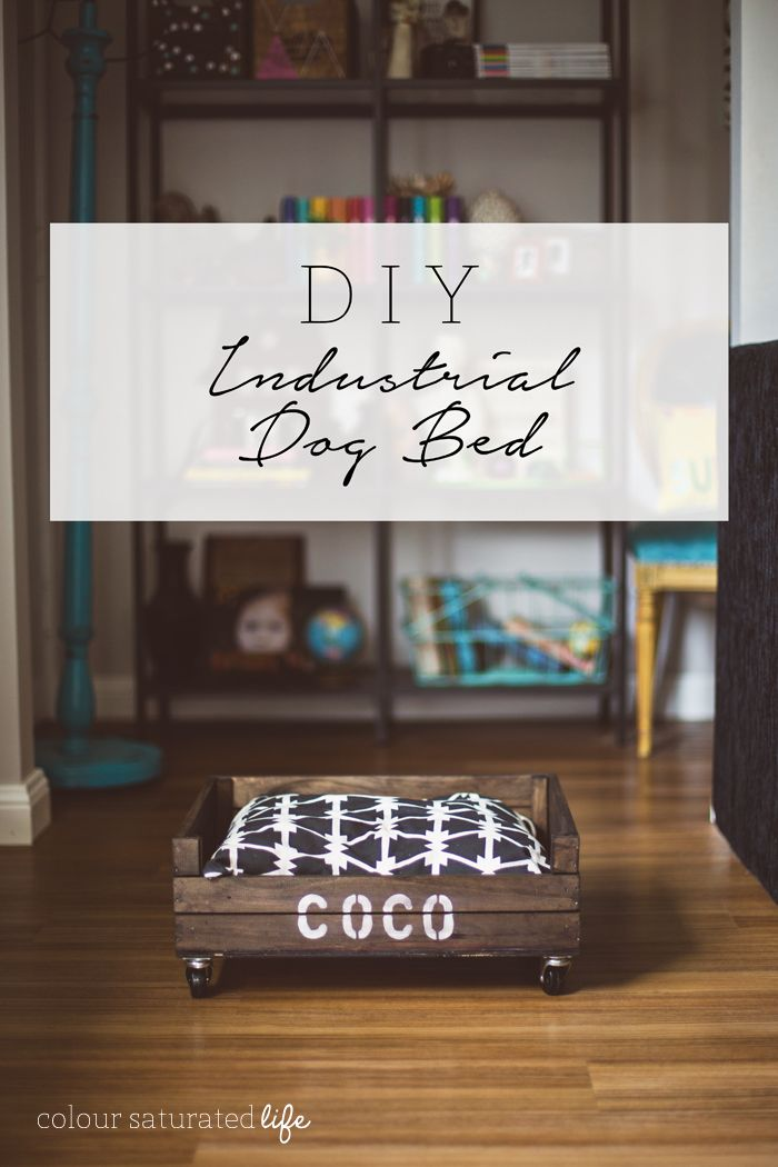 Colour Saturated Life | DIY Industrial Crate Dog Bed